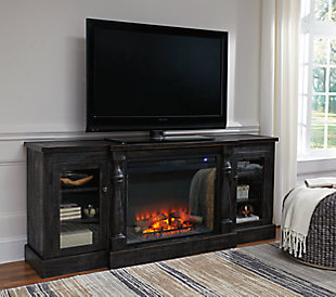 "Mallacar 75"" TV Stand with Electric Fireplace, , rollover"