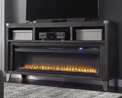 Todoe 65 Tv Stand With Electric Fireplace Ashley Furniture Homestore