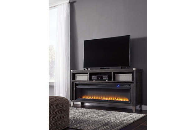 "Todoe 65"" TV Stand with Electric Fireplace, , large"