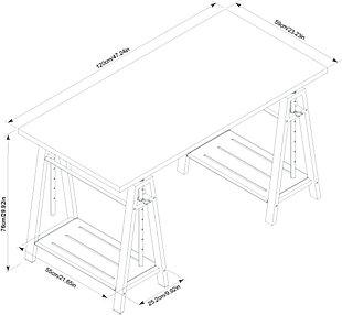 Irene Adjustable Height Desk, , large