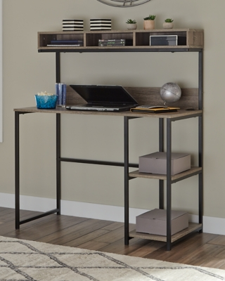 Daylicrew Home Office Desk and Hutch, , large