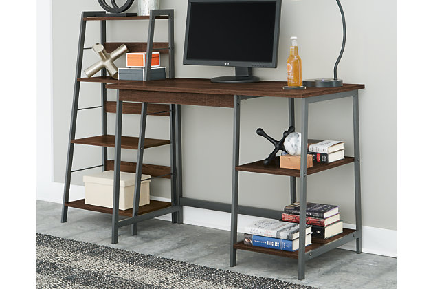 Soho Home Office Desk with Shelf, , large