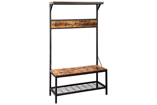 Bevinfield Hall Tree with Storage Bench, , large